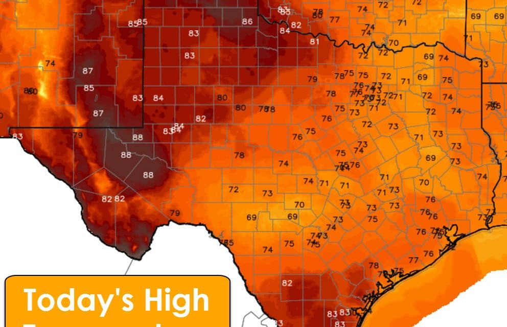 May-like Temperatures on Saturday; February Weather returns on Sunday-Tuesday