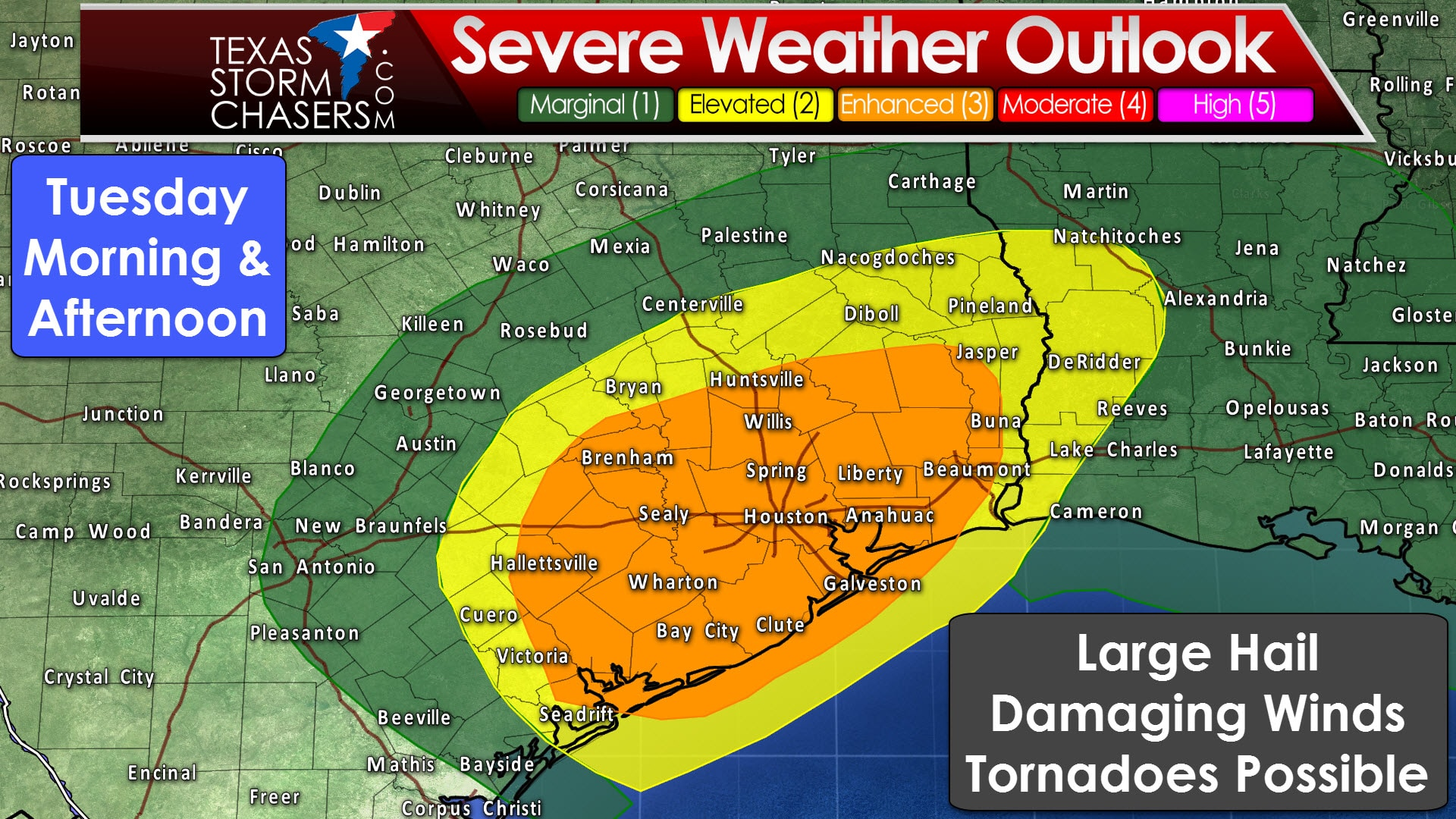 Category 3 Enhanced Risk Of Severe Storms In Southeast