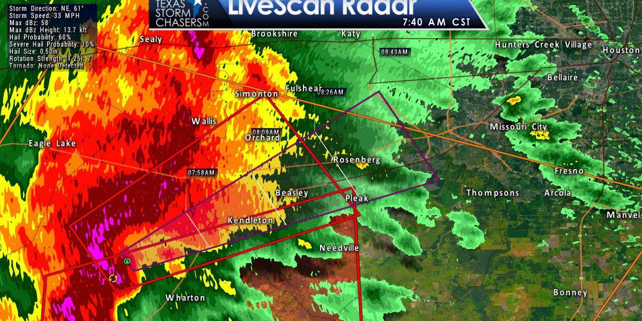 Tornado Warning: Wharton, Austin, Fort Bend Counties till 815AM.