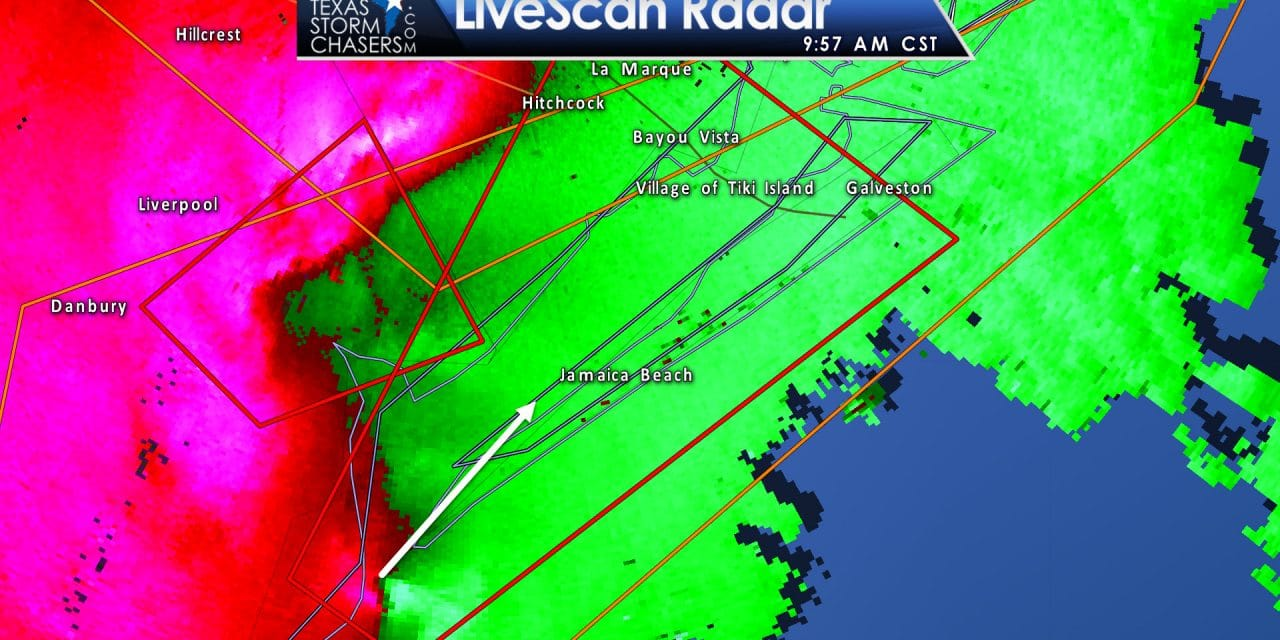 Dangerous Tornado-Warned Storm SW Galveston/E Brazoria Counties
