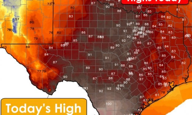 Dangerous Wildfire Outbreak Possible Today and Record High Temperatures