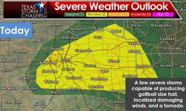 Increased Severe Weather Probabilities for North/Northeast TX