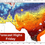 Cold Front Arrives Overnight-Cooler Tomorrow But Wildfire Threats Remain