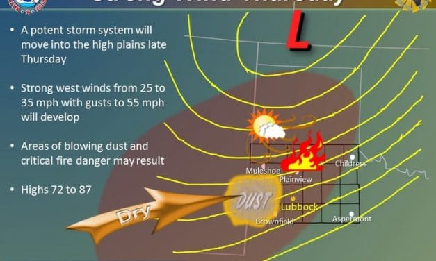 Dry & Very Warm Week; High-Impact Wind/Fire Event Thursday in the West