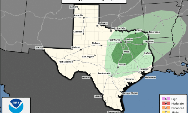 Marginal Risk (Level 1) of Severe Storms This Evening/Overnight