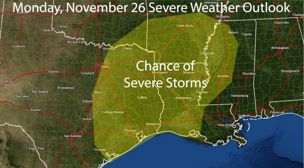 Risk of Strong Storms on Monday