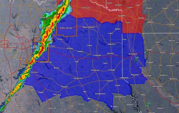 New Severe Thunderstorm Watch for East Texas