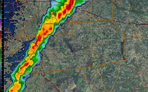 Severe T-Storm Warning for Kaufman/Navarro/Henderson/Van Zandt Counties
