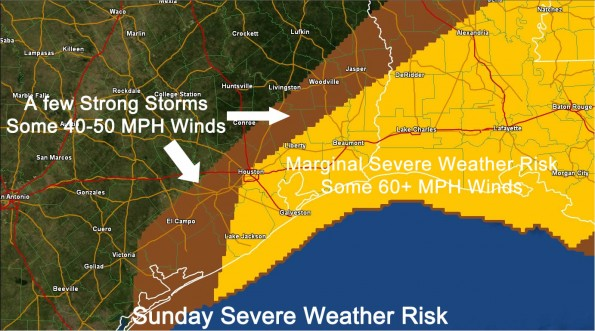 Severe Weather Outlook for Southeast Texas Issued