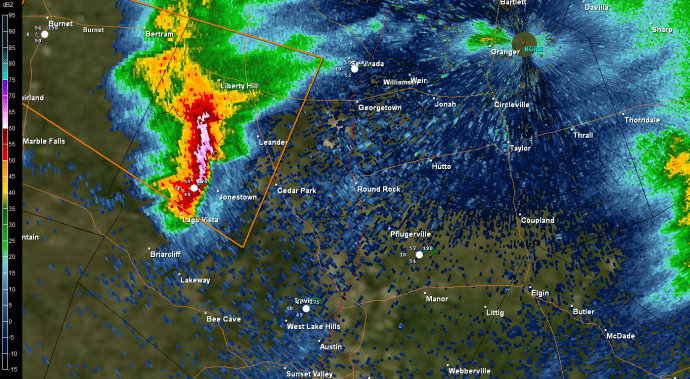 Severe Storm approaching Round Rock
