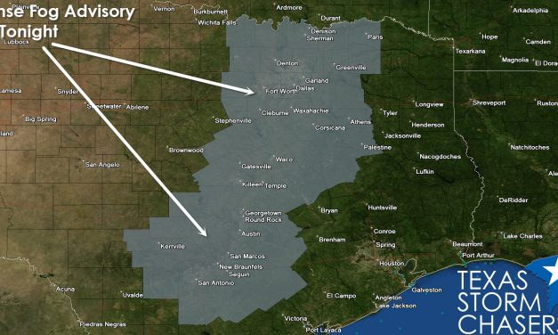 Dense Fog Advisory for North and Central Texas