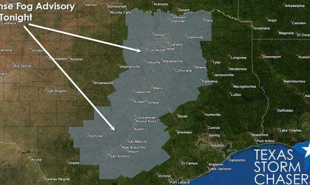 Dense Fog Advisory for North and Central Texas
