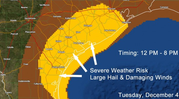 11:30 AM Severe Weather Update; Increased Risk