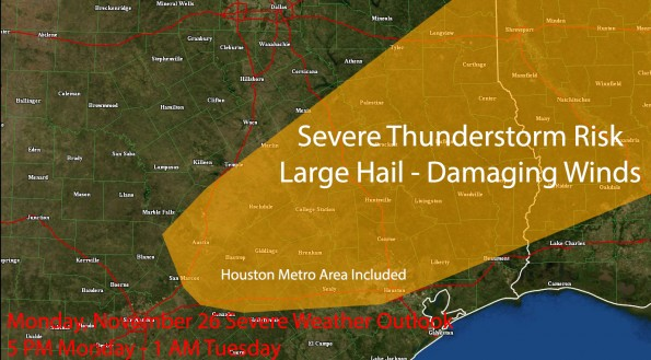 Severe Weather Analysis for Monday