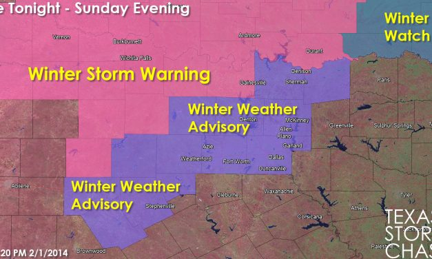 Winter Storm Warnings/Advisories Issued for North Texas
