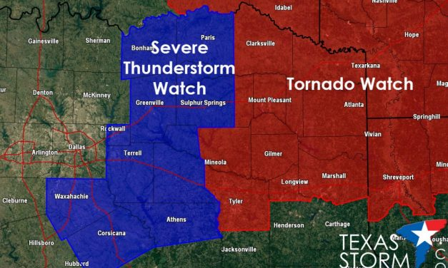 New Severe Thunderstorm WATCH – until 8pm CDT