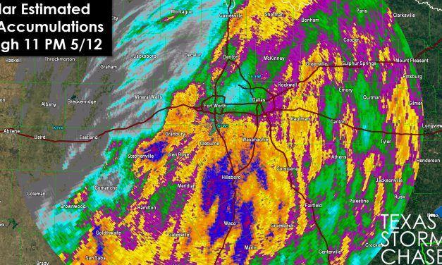 List of Rain Accumulations in North Texas