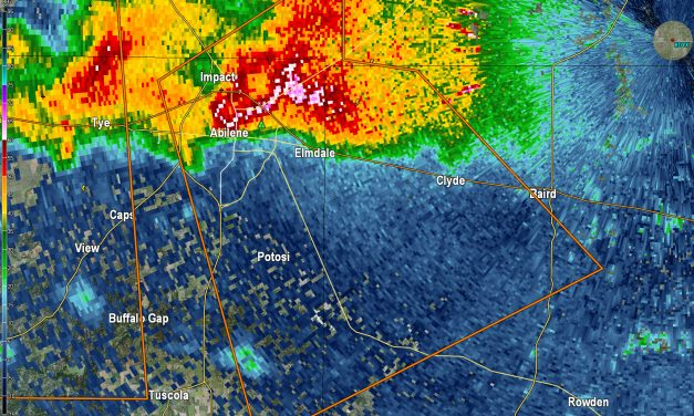 SOFTBALL Size Hail Reported in Abilene!