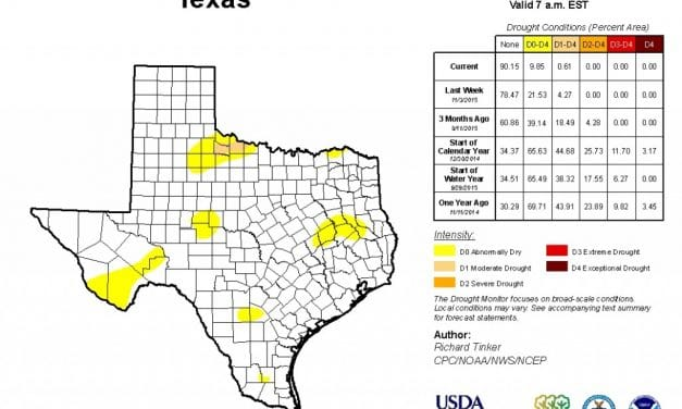 99.39% of Texas OUT of Drought Conditions!