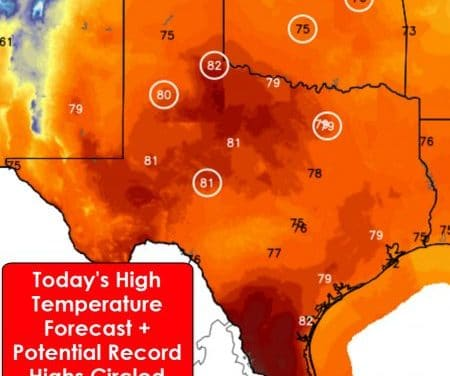 Record High Temperatures & Dangerous Wildfire Danger Today & Tuesday