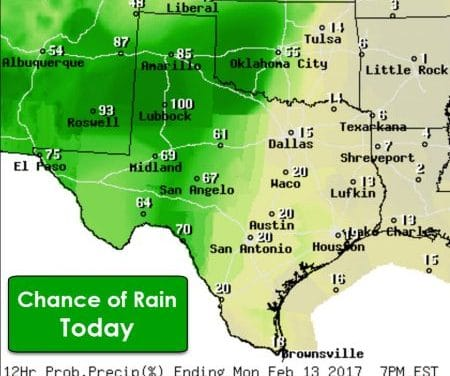 Widespread Soaking for Texas Today, Tonight, and Tuesday; Some Strong Storms Possible