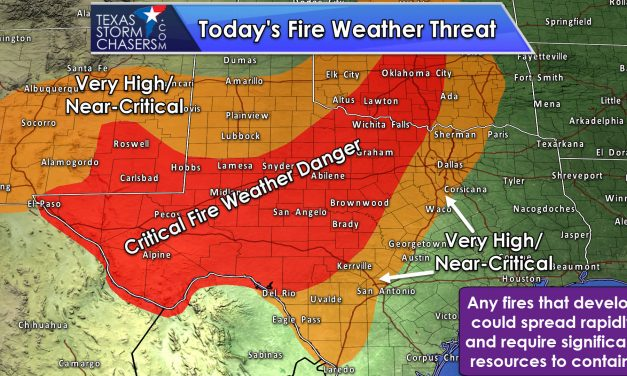 Critical Wildfire Behind the Dryline This Afternoon