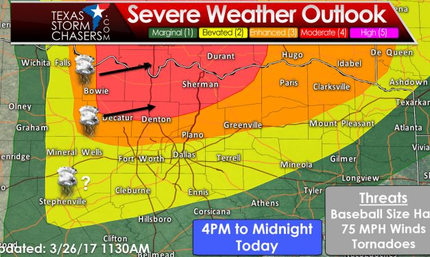 Severe Storms Likely after 4 PM in Texoma and parts of North Texas