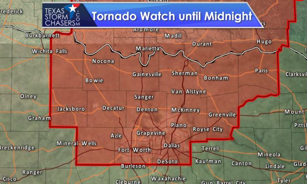 Tornado Watch until Midnight for Texoma & North Texas