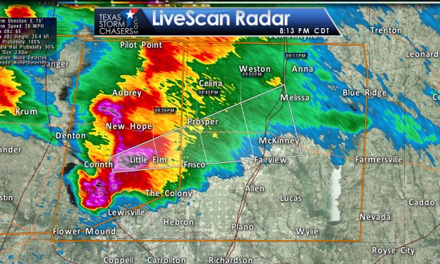 Baseball Size Hail Moving into Collin County!