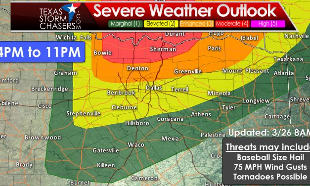 Category 4 Risk of Severe Weather Added for Texoma