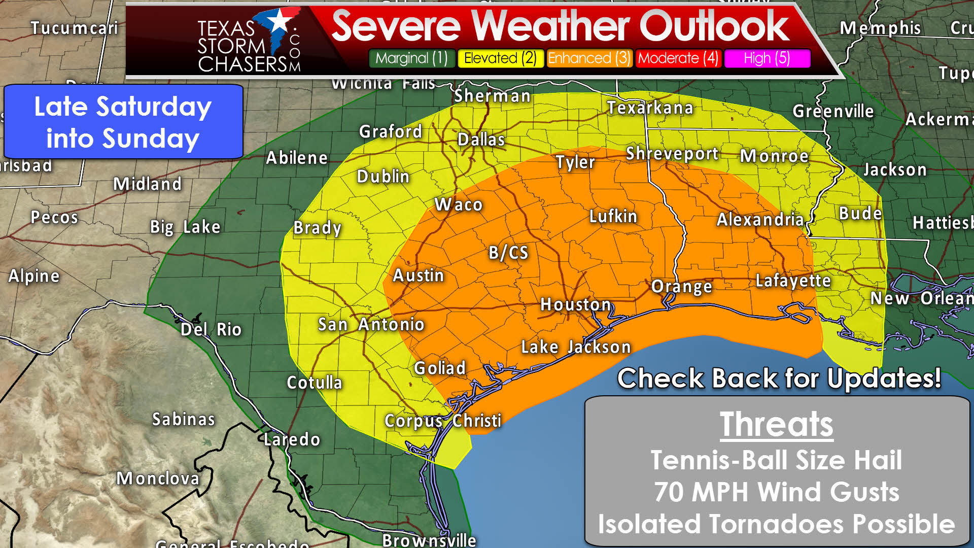 Severe Weather Threat Returns This Weekend • Texas Storm