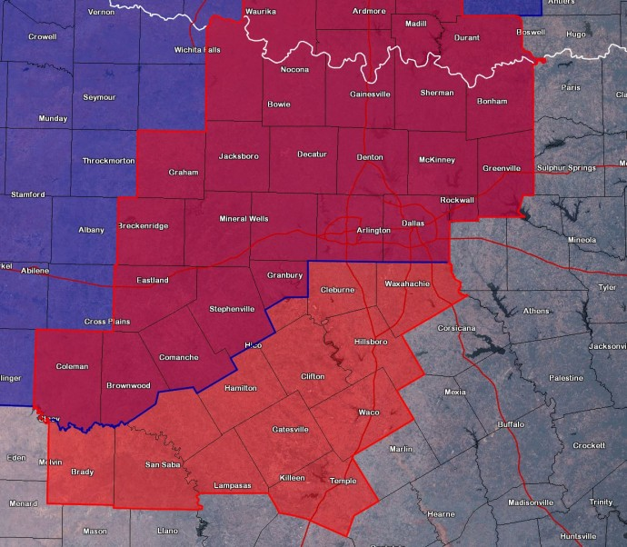 Tornado Watch Issued until 1 AM