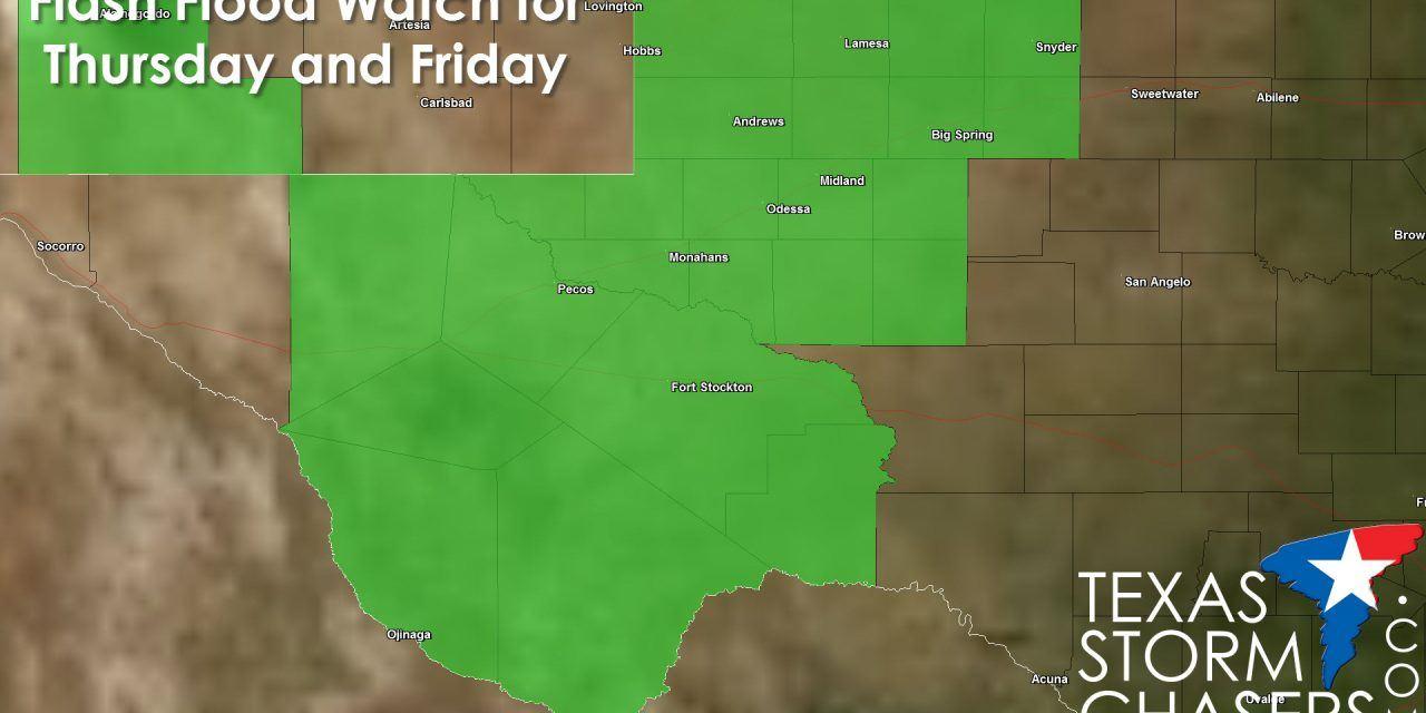 Flash Flood Watch across West Texas for Thursday & Friday