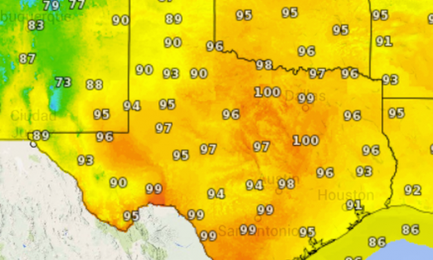 Wednesday's Weather Roundup – Hot and Dry for Most, Rain Southeast and Panhandle/West