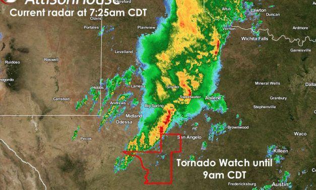 Tornado Watch – West Central TX until 9am CDT