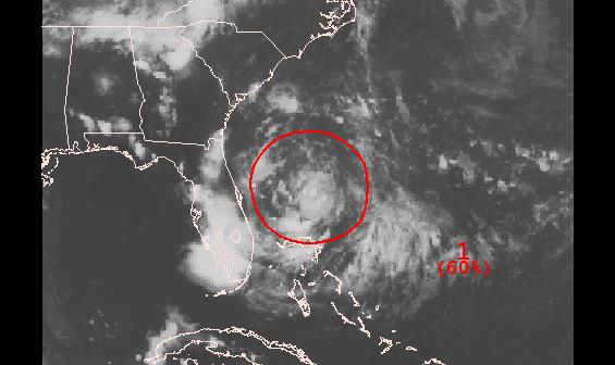 Tropical Disturbance sitting east of Florida
