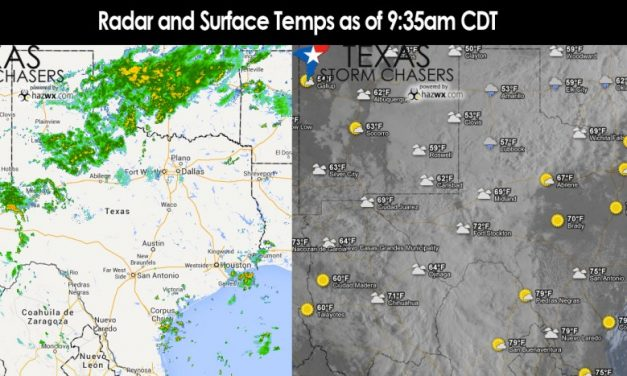 Saturday's Weather Roundup – Cold Front pushing through North Texas