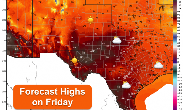 Heating Up This Weekend – Drought Conditions Return To Parts of Texas