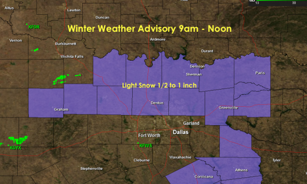 Winter Weather Advisories issued for North Central Texas