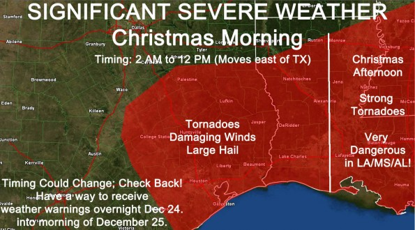Significant Severe Weather Threat Christmas Morning