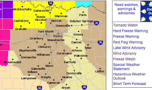 Tornado Watch Issued – North Central Texas