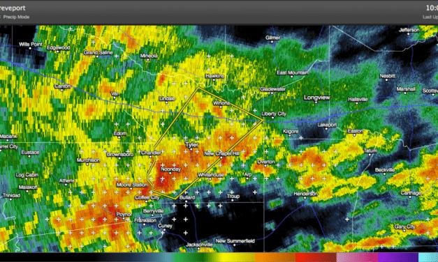 Severe Thunderstorm Warning – Smith County – Tyler, TX area