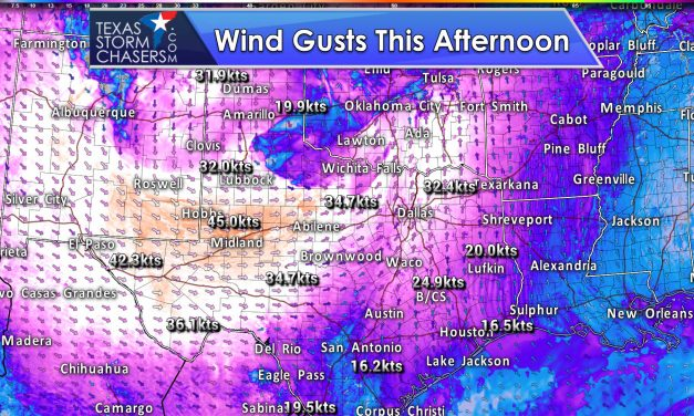 Snow Chances in Northwestern Panhandle; Gusty Winds Statewide Today