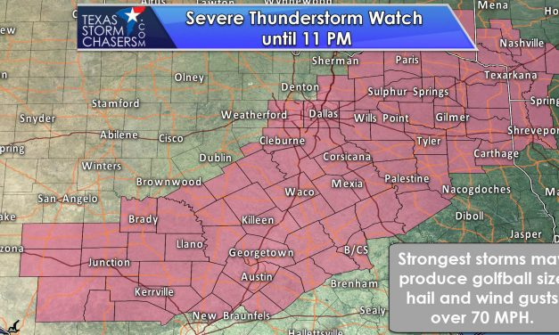 Severe Thunderstorm Watch Issued until 11 PM