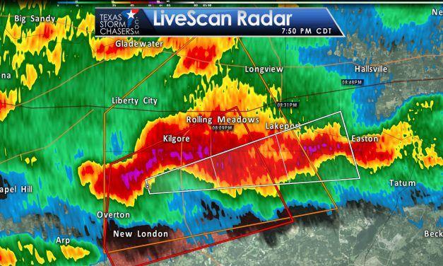 Tornado Warning: Rusk & Gregg Counties (NE TX) till 815PM