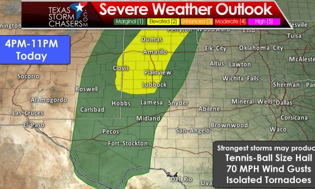Isolated Dryline Severe Storms Later Today & again on Saturday