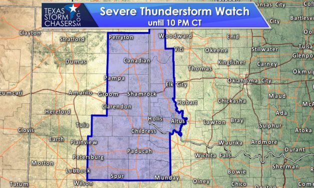 Severe Storm Watch till 10PM for Eastern Panhandle & West TX