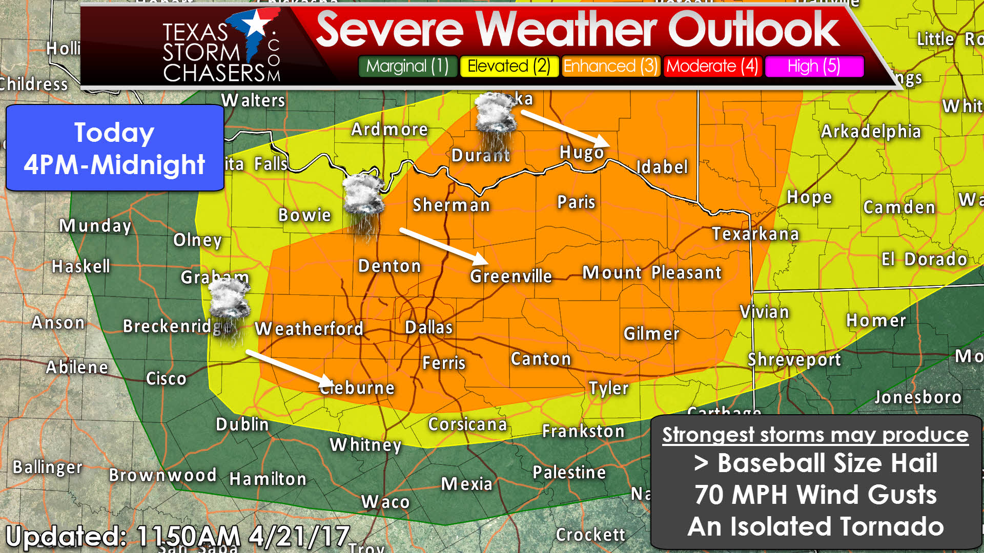 level enhanced severe weather risk expanded texas storm we now have an enhanced risk of severe weather across much of north and northeast texas this includes all of the d fw metroplex east to tyler northeast to