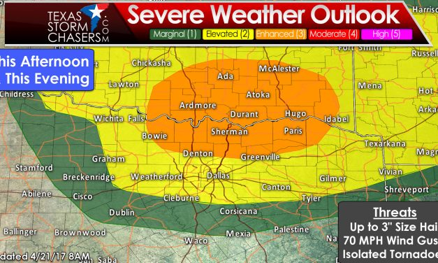 Severe Storms Late Afternoon/Evening in Texoma & North Texas