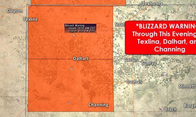 Blizzard Warning for northwestern Texas Panhandle through Tonight